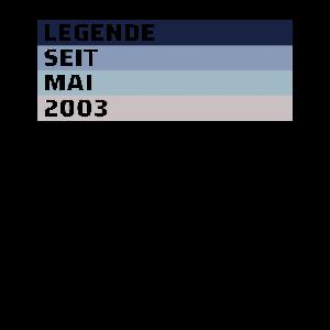 18. Geburtstag 18 Jahre 2003 Mai