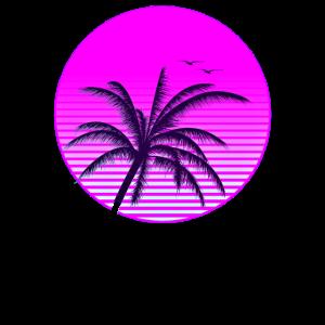 Vaporwave Aesthetic. Vintage Retrowave Sunset