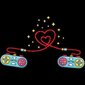 Herz Videospiel-Controller Jungen Valentinstag Gam