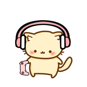 Play Harder! Kawaii Gaming Katze mit Controller