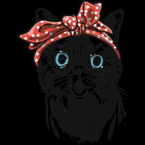 Katze Kitty Kitten Rockabilly Bandana