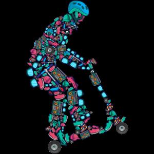 Stunt Scooter Roller E-Roller Kinder Jungen