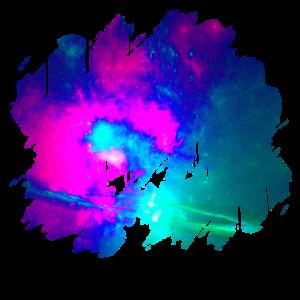 Bunter Nachthimmel Polarlicht Geschenk