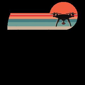 Drohnenpilot retro Drohne mit Kamera Quadrocopter