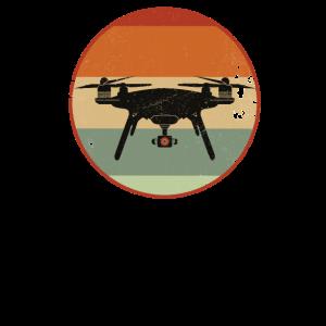 Drohnenpilot Vintage Drohne mit Kamera