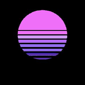 Retro Sonnenuntergang Personalisierbar