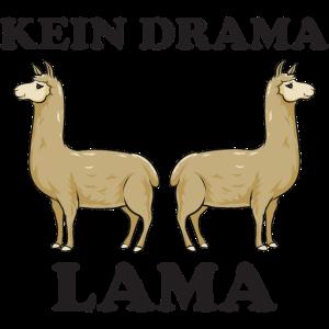 No Kein Drama Lama Kamel Alpaka Geschenk