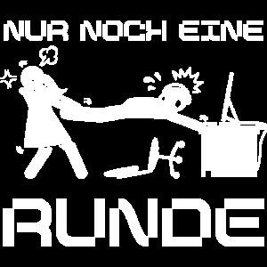 Nur noch eine Runde Gaming Gamer Lustige Spruch