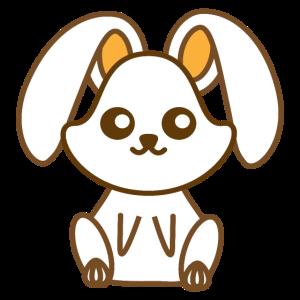 Kawaii und süße Kaninchen Design