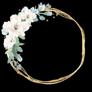 Blumen Kreis personalisierbar