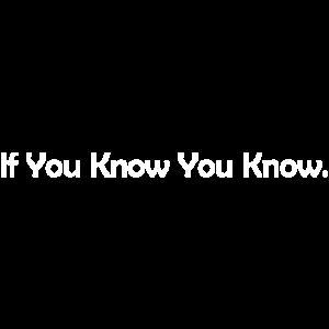 wenn Sie wissen, dass Sie wissen,