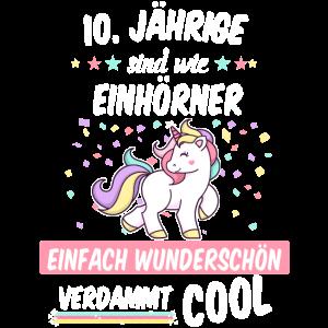 Geburtstag 10 Geburtstag Einhorn Spruch Party
