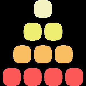 Sandkörner - Runde Formen pastellfarben retro