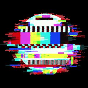 TV Kein Signal Monoscope Bild Retro Glitch Effekt