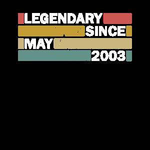 18. Geburtstag Mai Vintage Geschenkidee May