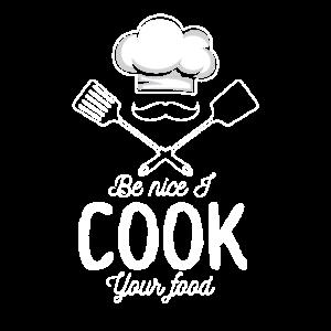 Sous Chef Lustiges Essen Sei Nett Ich Koche Dein