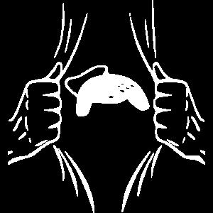 Zerissenes Shirt Design Spielkonsole