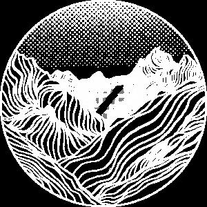 Berge aus Linien