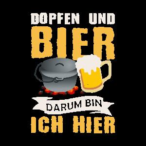 Dopfen und Bier darum bin ich hier Dutch Oven