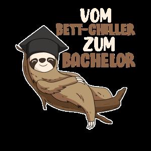 Bachelor Abschluss Geschenk Faultier Bett-Chiller