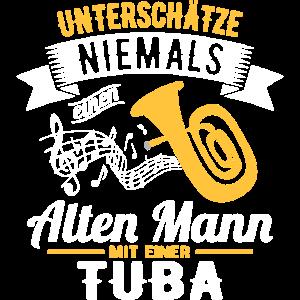 Rentner Tuba Ruhestand Blasinstrument Blasmusik