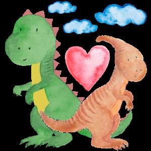 Verliebte Dinos verliebte Saurier