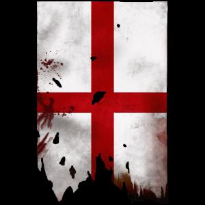 Distressed English Flag
