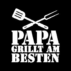 Papa grillt am Besten Grillen Vatertag Geschenk