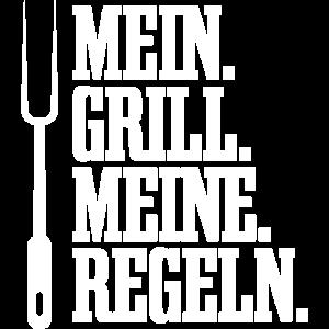 Mein Grill meine Regeln Grillparty Grillen