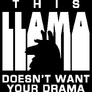 Diese Lama will nicht Ihr Drama