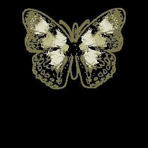 Salbei grün ästhetische Schmetterling