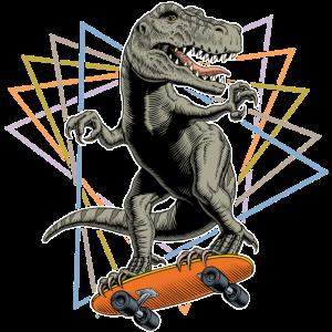 Tyrannosaurus Skateboard Dreiecke