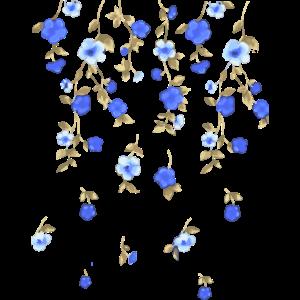 Blumen, blau, Ranken, illustration, floral