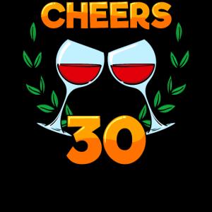 Geburtstag Statement 30er Dreißigster