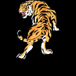Tiger Kunst Design Bleib Echt