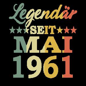 1961 Jahr Geburtstag Legendär seit Mai 1961