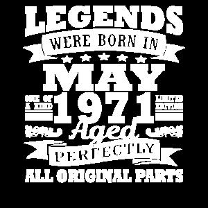 1971 Jahr Geburtstag Mai seit Mai 1971