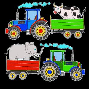 Bunte Traktoren