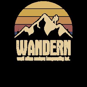 Wandern Bergsteigen Alpen Berge Vintage Retro