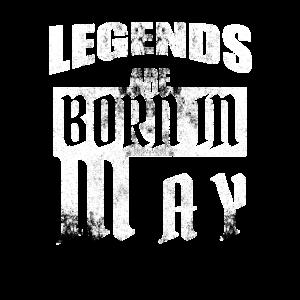 Legenden werden im Mai geboren Geburtstag