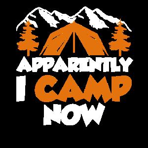 Offenbar campe ich jetzt Zelt Urlaub Camping