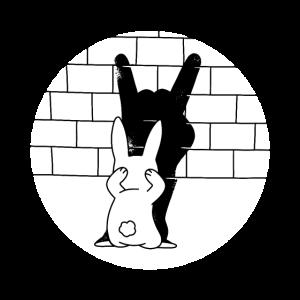 Lustig Osterhase Hase Schatten Eselsohren Geschenk