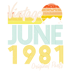 40. Geburtstag 2021 Retro Originalteile Juni 1981