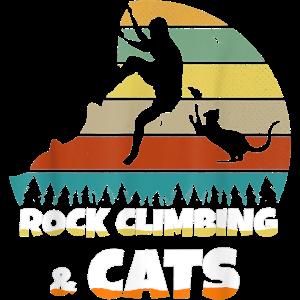 Rock Climbing Cat Klettern Katze Geschenk Hobby