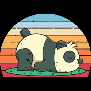 Tierliebhaber Geschenk Schlafender Panda
