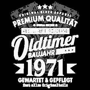OLDTIMER BAUJAHR 1971 50.GEBURTSTAG BIKER GESCHENK
