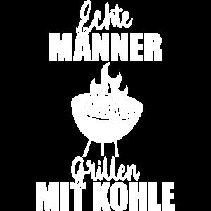 Grillen Kohlegrill Echte Männer BBQ Geschenkidee