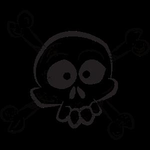 Comic Skull Totenkopf Pirat Geschenk Halloween