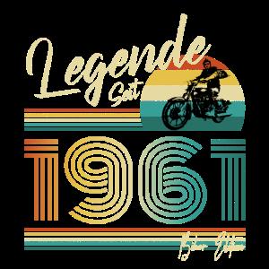 1961 Motorrad Biker Edition 60 Geburtstag Geschenk
