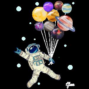 Astronaut Planeten